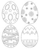 Black and white easter egg collection set poster. Royalty Free Stock Photography