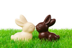 Black and white easter rabbits Royalty Free Stock Photo