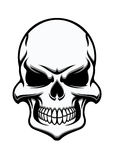 Black and white eerie human skull royalty free illustration