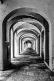 Black and White effects in Saluzzo. I take this photo in Saluzzo,Piedmont Royalty Free Stock Image