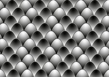 Black white eggs Royalty Free Stock Image