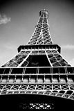 Black and white Eifel Tower Stock Photos