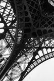 Black and White Eiffel Tower in the City of Paris France stock photos