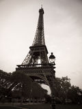 Black and White Eiffel Tower in Paris France royalty free stock photo