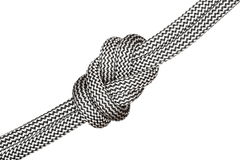 Black and white eight knot Stock Image