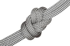 Black and white eight knot Royalty Free Stock Photography