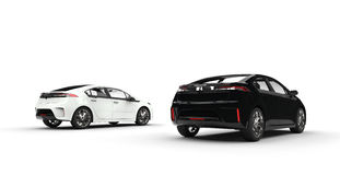 Black and White Electric Cars Stock Image