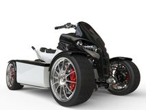 Black and white electric quad bike Royalty Free Stock Photography