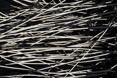 Black and white electric wire Royalty Free Stock Images