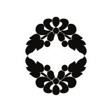 Black and white element. Royalty Free Stock Photography