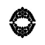 Black and white element. stock illustration