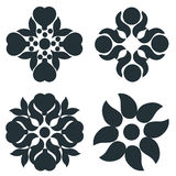 Black and white elements. stock images
