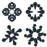 Black and white elements. Royalty Free Stock Image