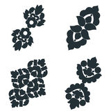 Black and white elements. Stock Image