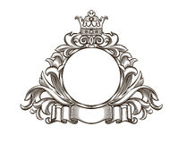 Black and white emblem. All the elements are grouped Royalty Free Stock Photos