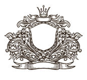 Black and white emblem Royalty Free Stock Images