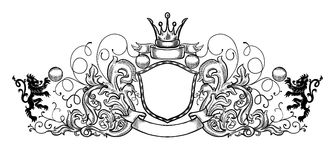 Black and white emblem Royalty Free Stock Photo