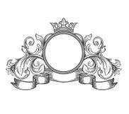 Black and white emblem Royalty Free Stock Photo