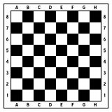 Black and White Empty Chessboard Royalty Free Stock Images