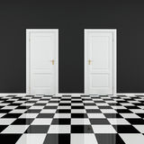 Black and white empty room Royalty Free Stock Image