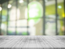 Black and white empty wood table top on blurred background,for m. Ontage your products Royalty Free Stock Photo