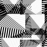 Black and white endless vector striped tiling, fashionable textu Stock Image