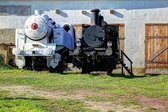 Black and white engines Royalty Free Stock Photo