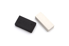 Black and white eraser Royalty Free Stock Photos