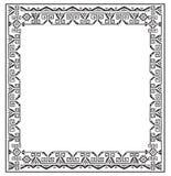Black And White Ethnic Frames Vector. Tribal Vector Frame. Navajo Stile Frame. Stock Image