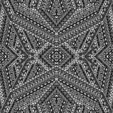 Black and white ethnic motifs pattern. Black and white ethnic motifs seamless pattern Stock Images