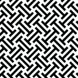 Black and white ethnic op art tribal pattern Stock Images