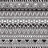 Black-and-white ethnic seamless pattern. Black and white ethnic seamless pattern. Vector illustration. Drawing by hand Royalty Free Stock Photo