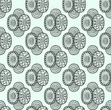 Black and white ethnic textile decorative ornamental seamless pattern in vector. Abstract endless ornate background. Royalty Free Stock Image