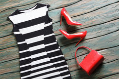 Black and white evening dress. Royalty Free Stock Photography
