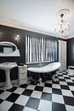 Black and white expensive bathroom Royalty Free Stock Images