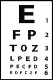 Black on White Eye Chart Royalty Free Stock Photography