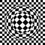 Black and white eye illusion Stock Photo