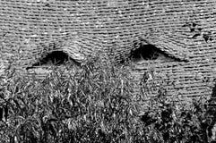 Black and White. Eyed roof.  Medieval city Sighisoara, Transylvania. Royalty Free Stock Image