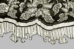Black and white fabric Royalty Free Stock Image