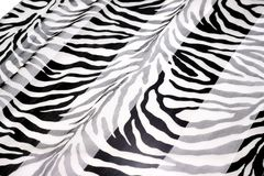 Black-and-white fabric Stock Photography