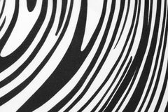 Black and White Fabric with  Swirl or Zebra Pattern Stock Image
