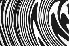 Black and White Fabric with  Swirl or Zebra Pattern Stock Photo