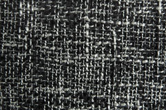 Black and white fabric texture royalty free stock images