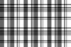 Black white fabric texture pixel asymmetrical seamless pattern. Vector illustration Royalty Free Stock Photo