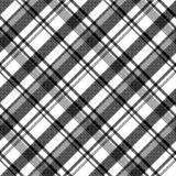 Black white fabric texture pixel asymmetrical seamless pattern. Vector illustration stock illustration