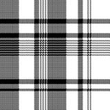 Black white fabric texture pixel asymmetrical seamless pattern. Vector illustration royalty free illustration