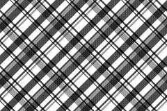 Black white fabric texture pixel asymmetrical seamless pattern. Vector illustration Royalty Free Stock Images
