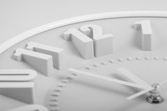Black and white face of the clock. 12 hours Stock Photo