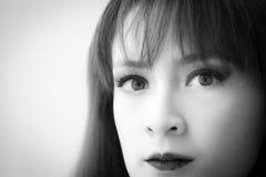 Black & white face Stock Photo