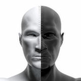 Black and White faces combined Stock Image
